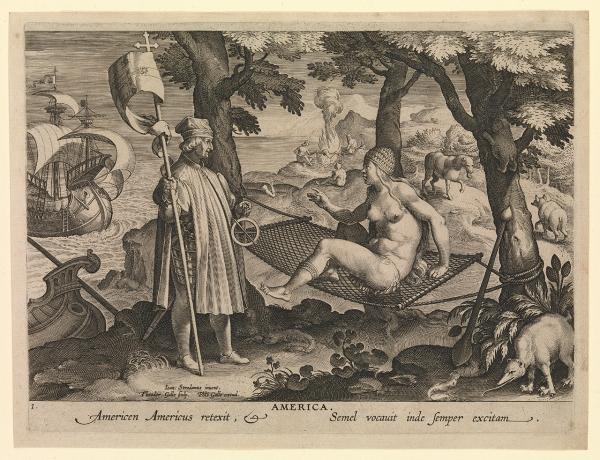 America. Americen Americus retexit, Semel vocauit inde semper exitam (the astrolabe) PAF7094
